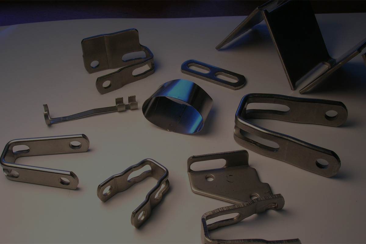 Metal Pieces on table